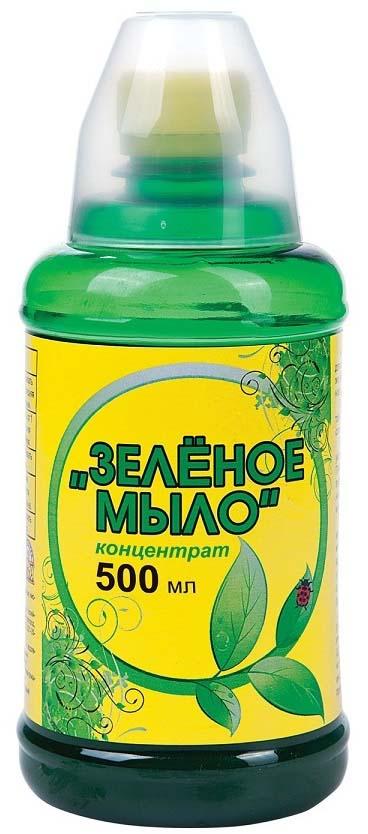 Препарат для защиты растений Ваше хозяйство Зеленое мыло, с мерным стаканчиком, от вредителей, 500 мл препарат для защиты растений ваше хозяйство престижитатор от вредителей 25 мл