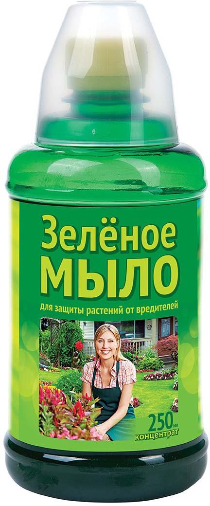 Препарат для защиты растений Ваше хозяйство Зеленое мыло, с мерным стаканчиком, от вредителей, 250 мл препарат для защиты растений ваше хозяйство инсектор от вредителей 1 2 мл