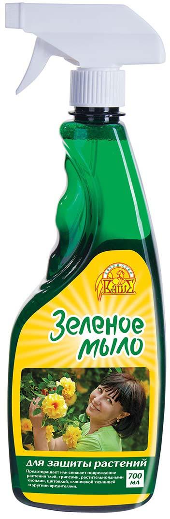 Спрей для защиты растений Ваше хозяйство Зеленое мыло, от вредителей, 700 мл препарат для защиты растений ваше хозяйство инсектор от вредителей 1 2 мл