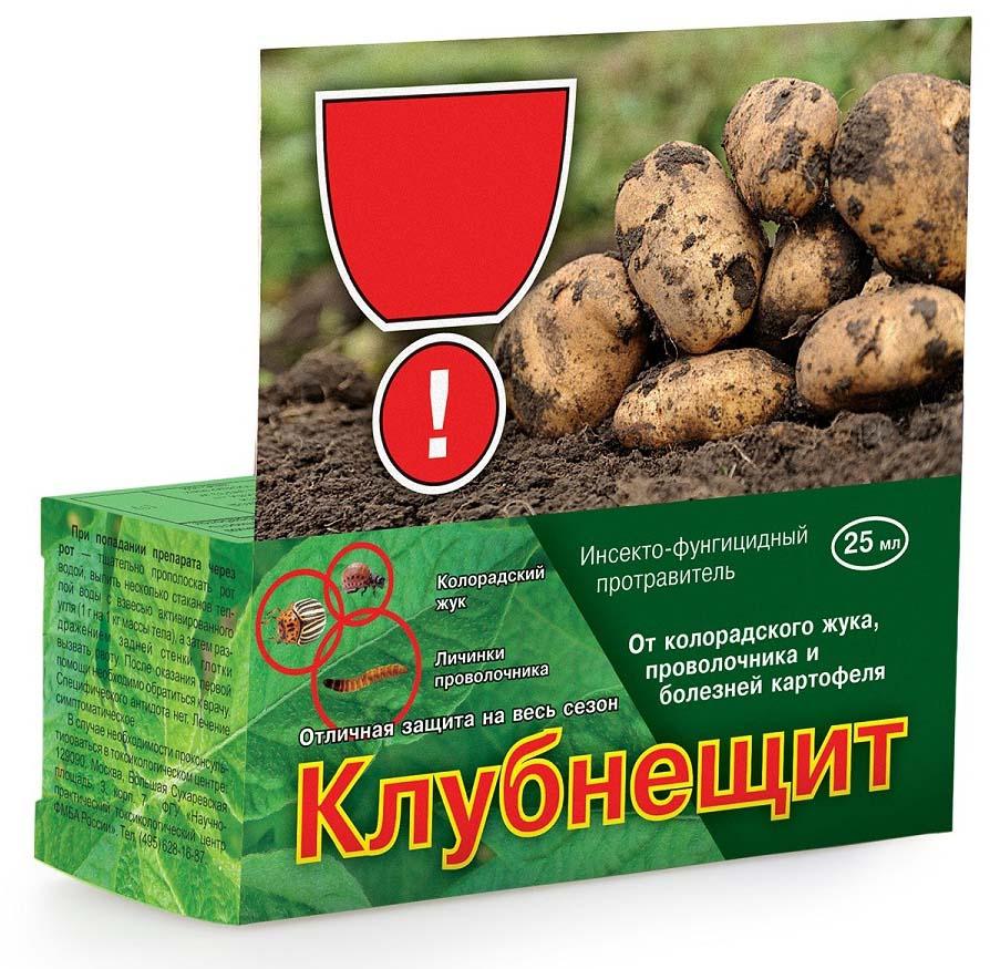Препарат для защиты растений Ваше хозяйство Клубнещит, от вредителей, 25 мл препарат для защиты растений ваше хозяйство инсектор от вредителей 1 2 мл