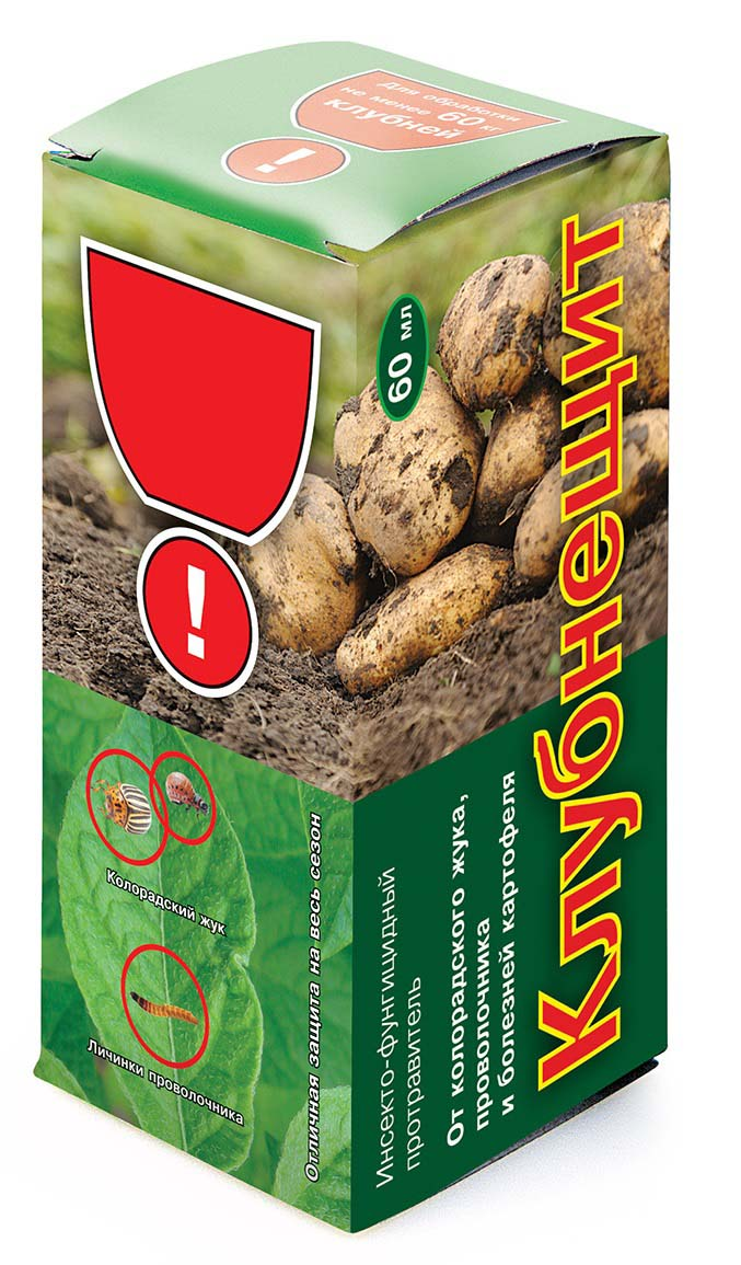 Препарат для защиты растений Ваше хозяйство Клубнещит, от вредителей, 60 мл препарат для защиты растений ваше хозяйство инсектор от вредителей 1 2 мл