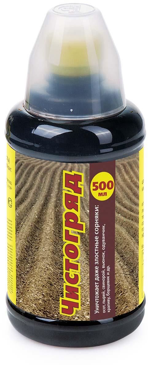 Препарат для защиты растений Ваше хозяйство Чистогряд, для борьбы с сорняками, 500 мл регулятор роста и развития растений ваше хозяйство биосил 10 мл