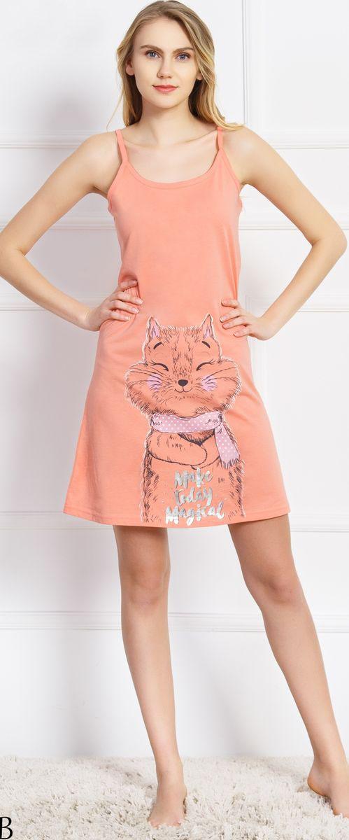 Платье домашнее Vienetta's Secret туника на бретелях timing