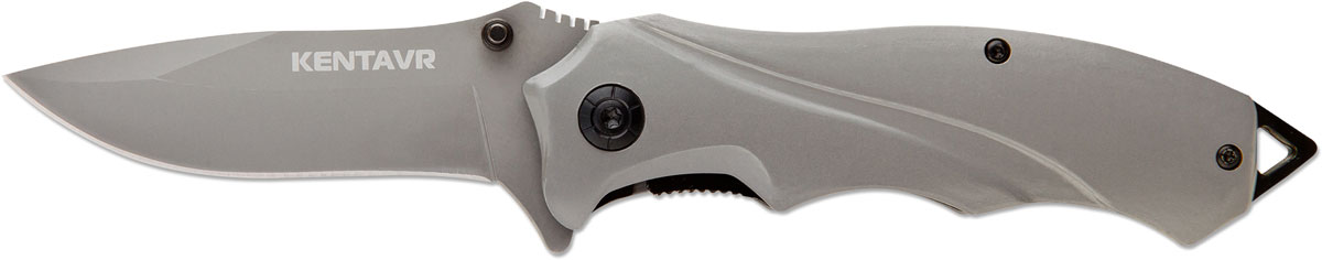 Нож автоматический Ножемир Четкий расклад. Kentavr, цвет: серый металлик, длина лезвия 8 см