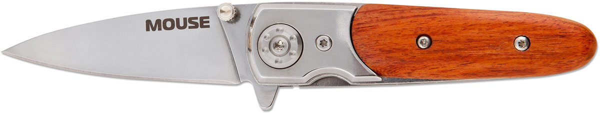 Нож автоматический Ножемир Четкий расклад. Mouse, цвет: коричнево-красный, длина лезвия 6,5 см
