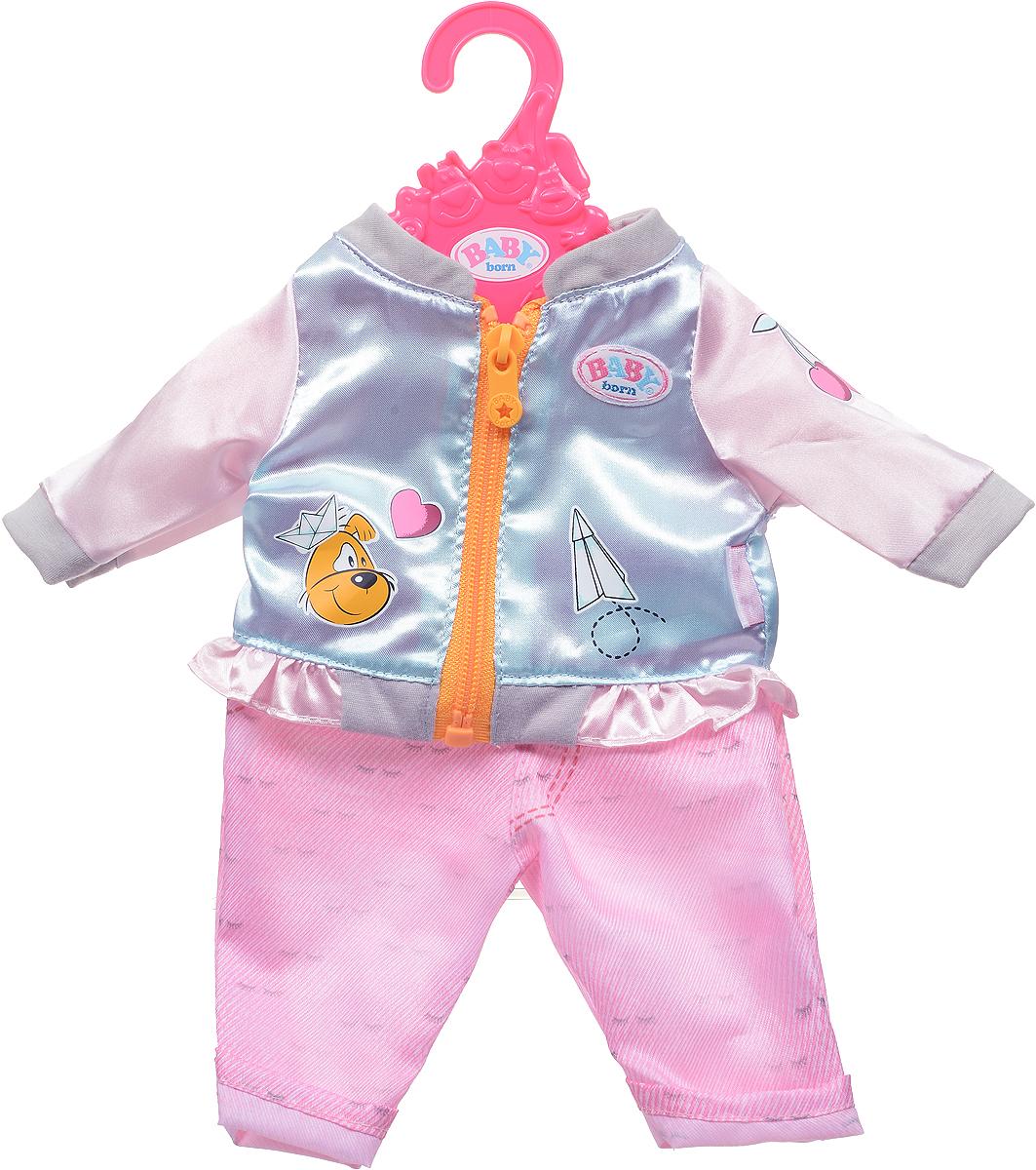 Zapf Creation Одежда для куклы BABY born 824-542, Куртка голубая, штаны розовые zapf creation одежда для куклы baby born 824 566 цвет розовый