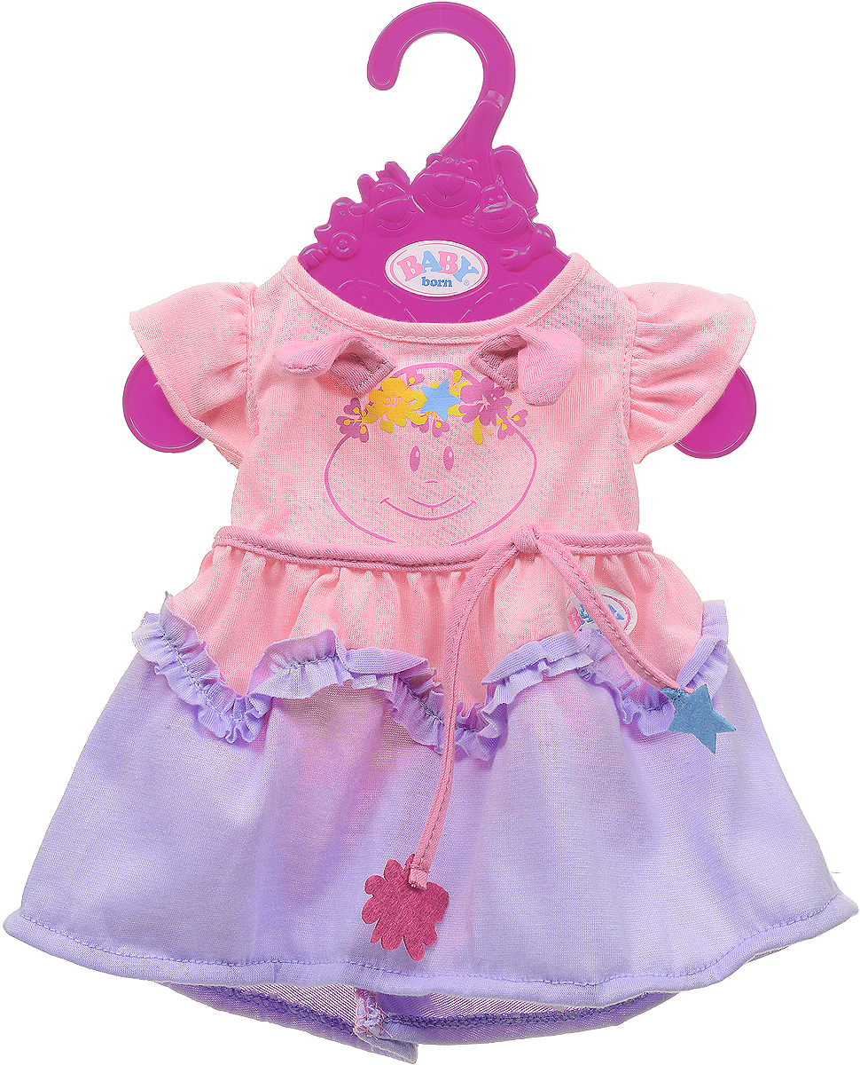 Zapf Creation Одежда для куклы BABY born 824-559, цвет: розовый, сиреневый цена