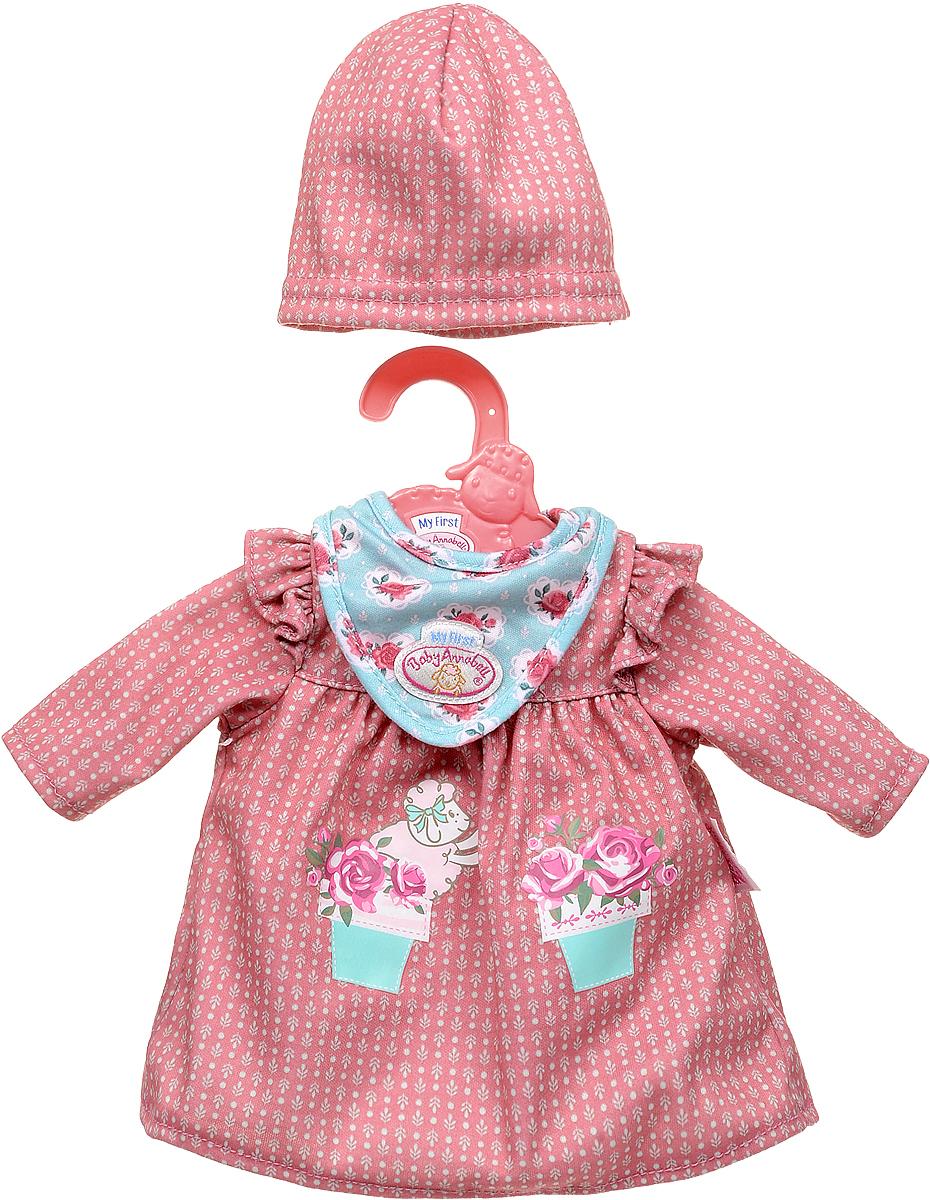 Zapf Creation Одежда для куклы My first Baby Annabell Платье, цвет: красный zapf creation одежда для куклы my first baby annabell zapf creation розового цвета 36 см