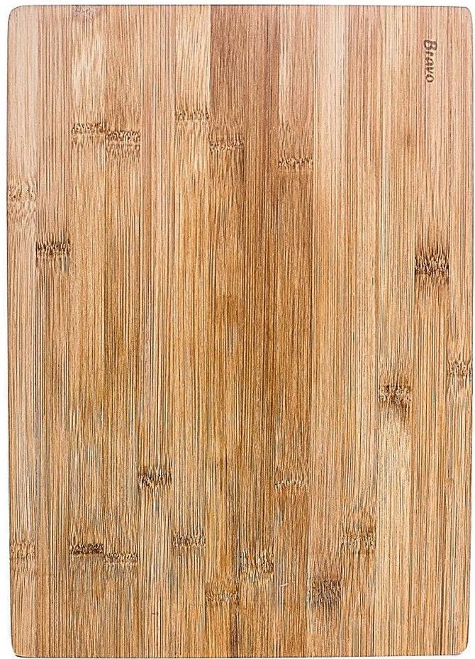Доска разделочная Bravo, цвет: коричневый, бежевый, 30 х 20 х 1 см доска разделочная bravo 28 18 см