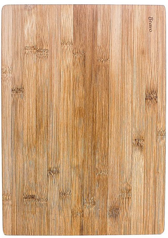 Доска разделочная Bravo, цвет: коричневый, бежевый, 34 х 24 х 1 см доска разделочная bravo 28 18 см