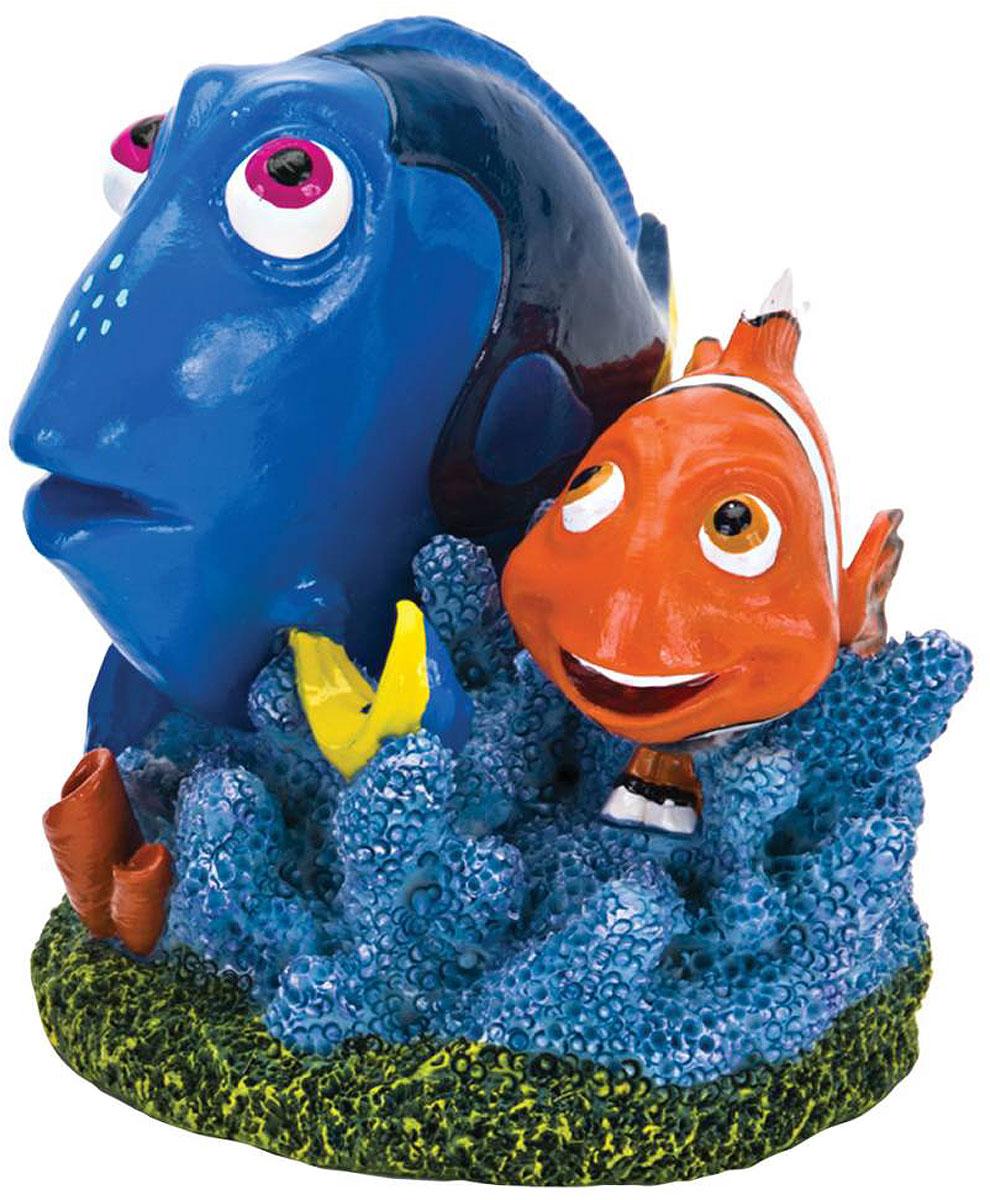 Декорация для аквариума Penn-Plax Дори и Марлин, 5 х 8 х 7 см декорация для аквариума penn plax домик губки боба 14 см