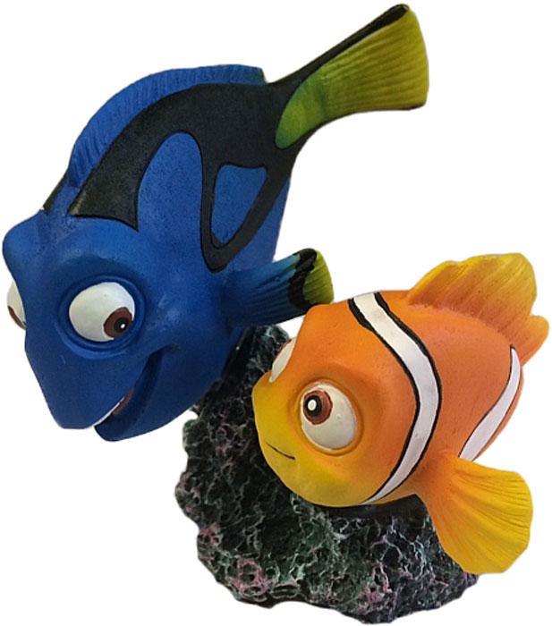 Набор декораций для аквариума Penn-Plax В поисках Дори, 22,6 х 42 х 17,5 см, 40 шт набор декораций для аквариума penn plax губка боб и его друзья 27 9 х 19 х 15 9 см