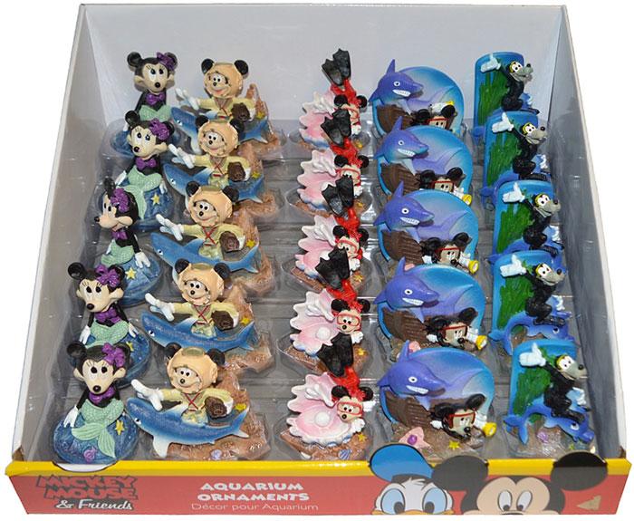 Набор декораций для аквариума Микки Маус и его друзья, 25 шт набор декораций для аквариума penn plax губка боб и его друзья 27 9 х 19 х 15 9 см