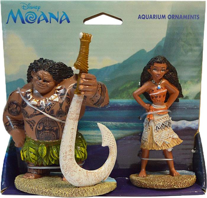 Декорация для аквариума Penn-Plax Моана и Мауи, 19,8 х 7,9 см декорация для аквариума penn plax домик губки боба 14 см