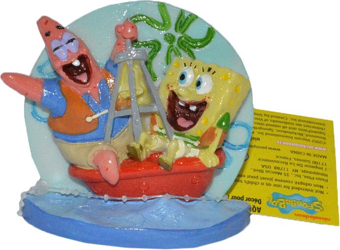Декорация для аквариума Penn-Plax Губка Боб и Патрик на буйке, 7,6 см грот для аквариума penn plax губка боб