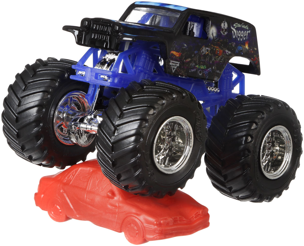 все цены на Hot Wheels Monster Jam Машинка Son-Uva Digger онлайн