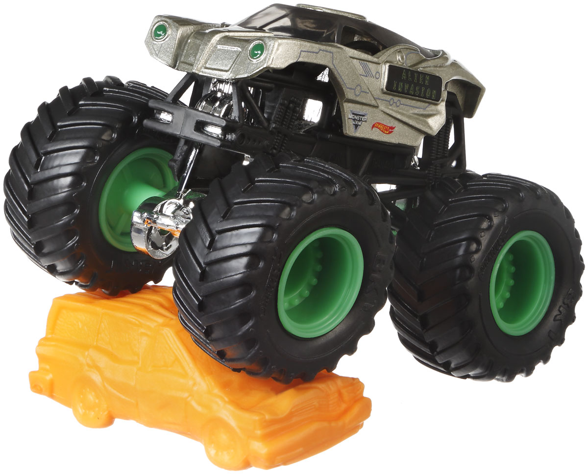 все цены на Hot Wheels Monster Jam Машинка Alien Invasion онлайн