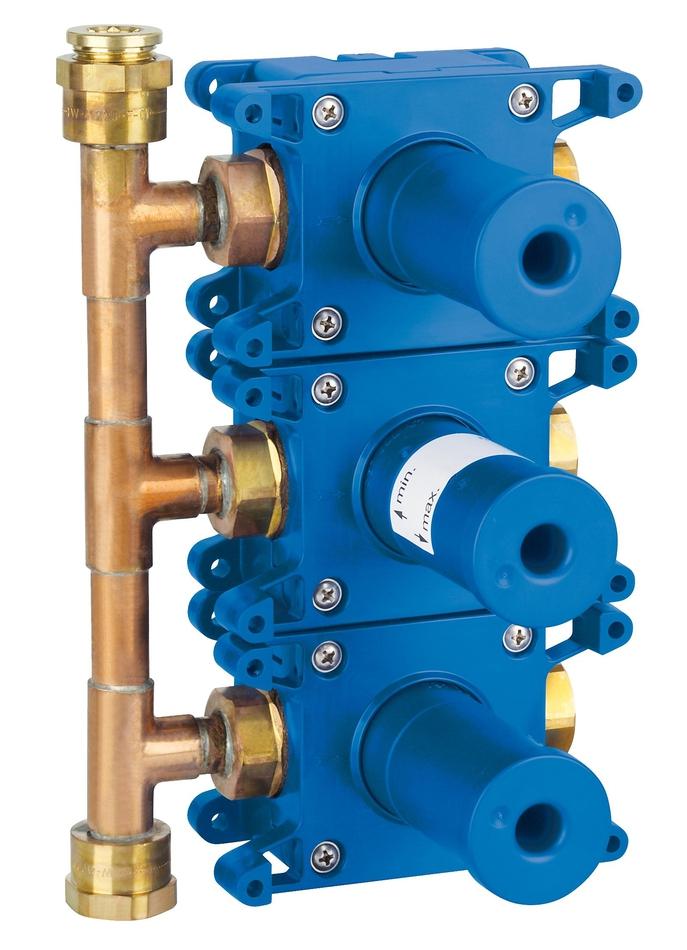Встраиваемый вентиль на три выхода Grohe Rapido C. 35031000 встраиваемый вентиль на три выхода grohe rapido c 35031000