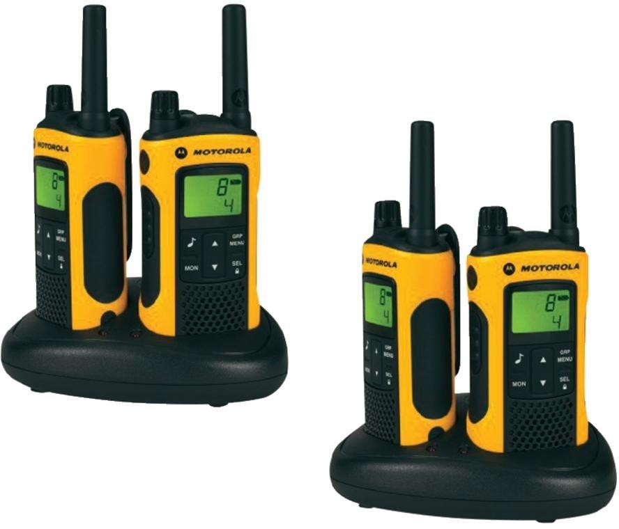 Комплект из четырех радиостанций Motorola TLKR-T80EXT QUAD радиостанция motorola tlkr t80ext комплект из двух радиостанций mt125