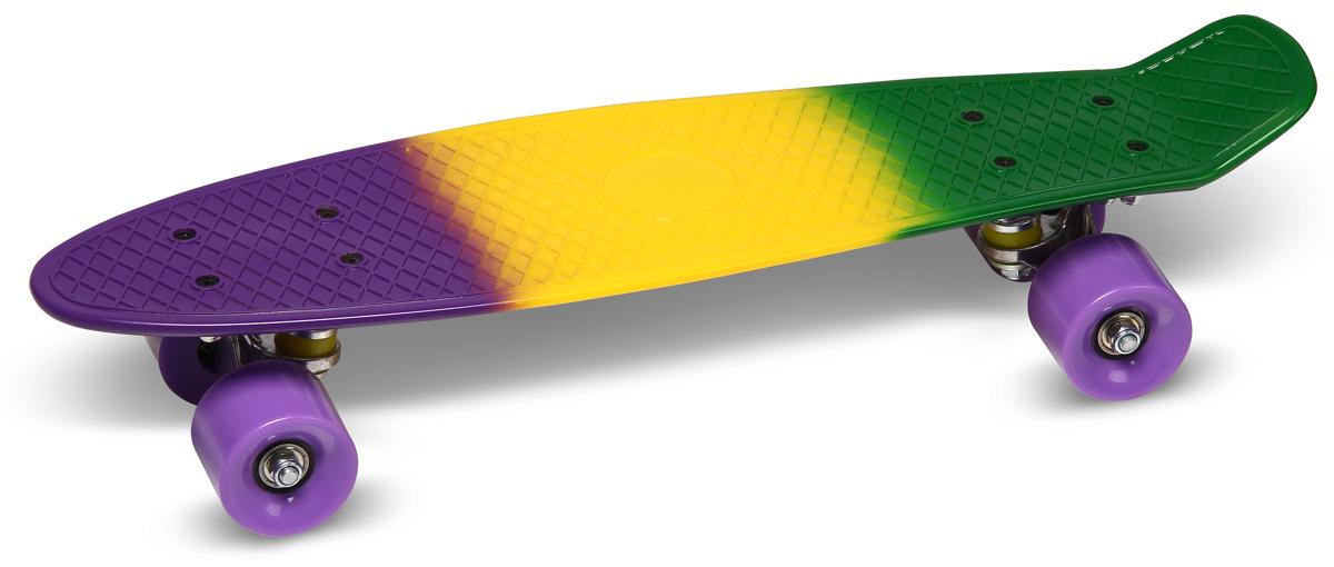 """Круизер """"Indigo"""", цвет: Мультицвет, 56,5 х 15 см, ABEC 7"""