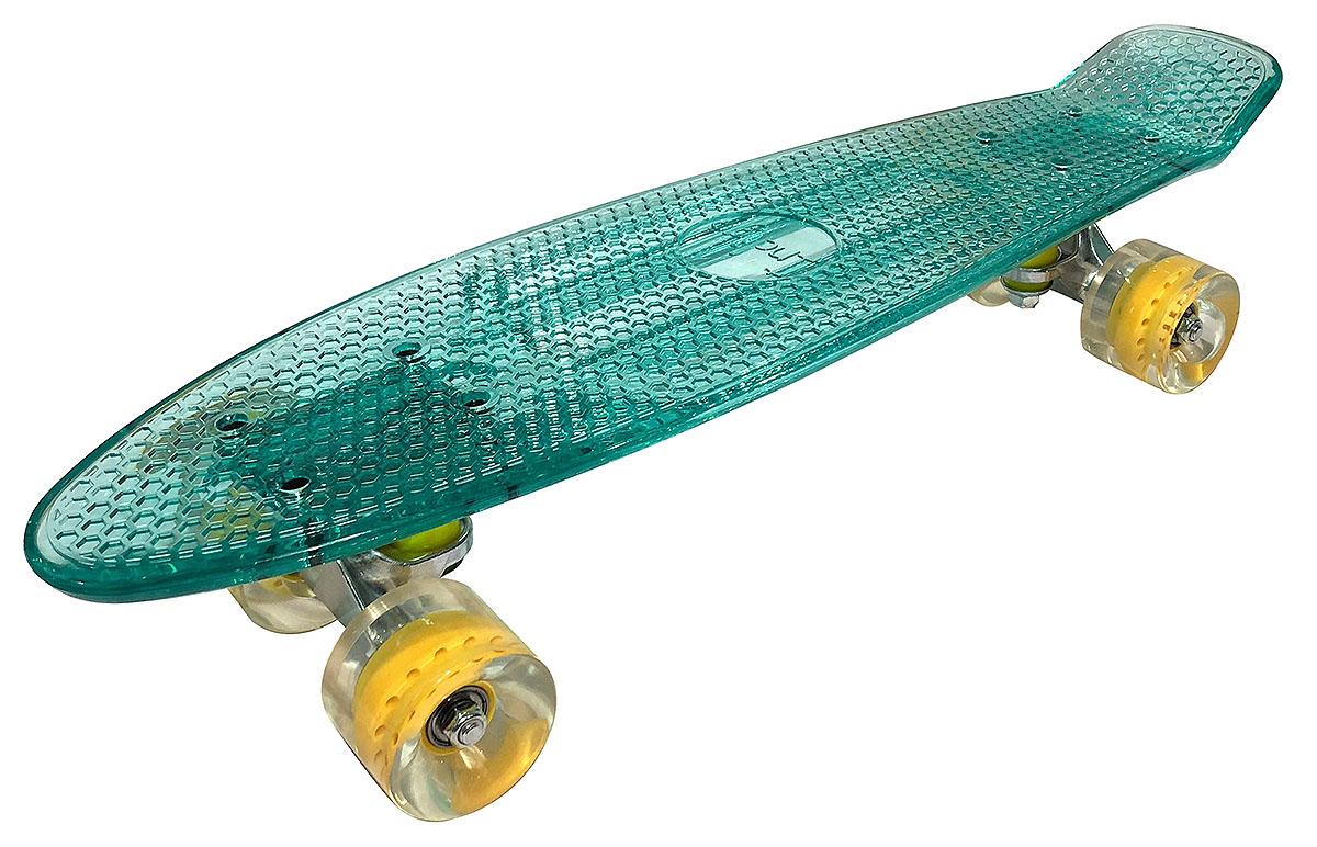 """Круизер """"Indigo"""", цвет: Зеленый прозрачный 56,5 х 15 см, ABEC 7"""