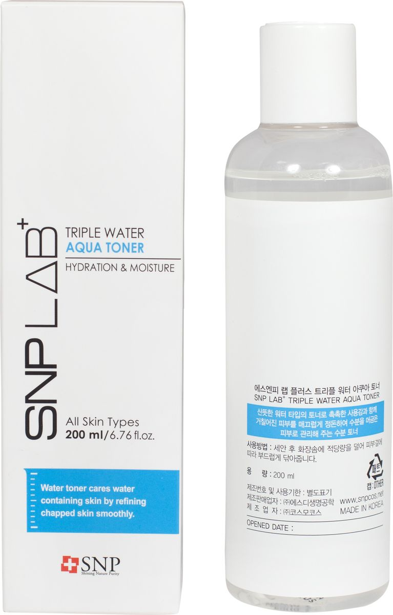 SNP Lab+ Triple Water Aqua Toner Увлажняющий тонер, 200 мл
