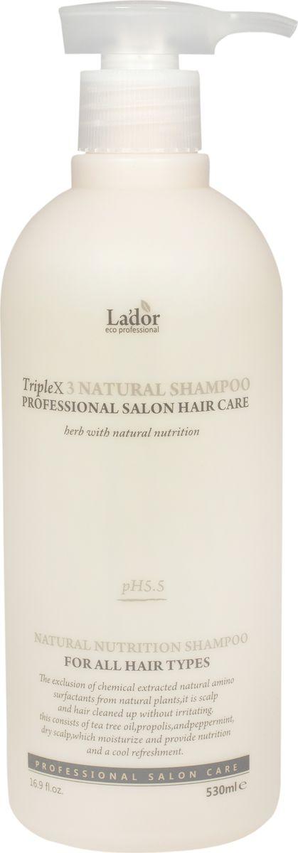 Lador Triplex Natural Shampoo Органический шампунь для волос, 530 мл