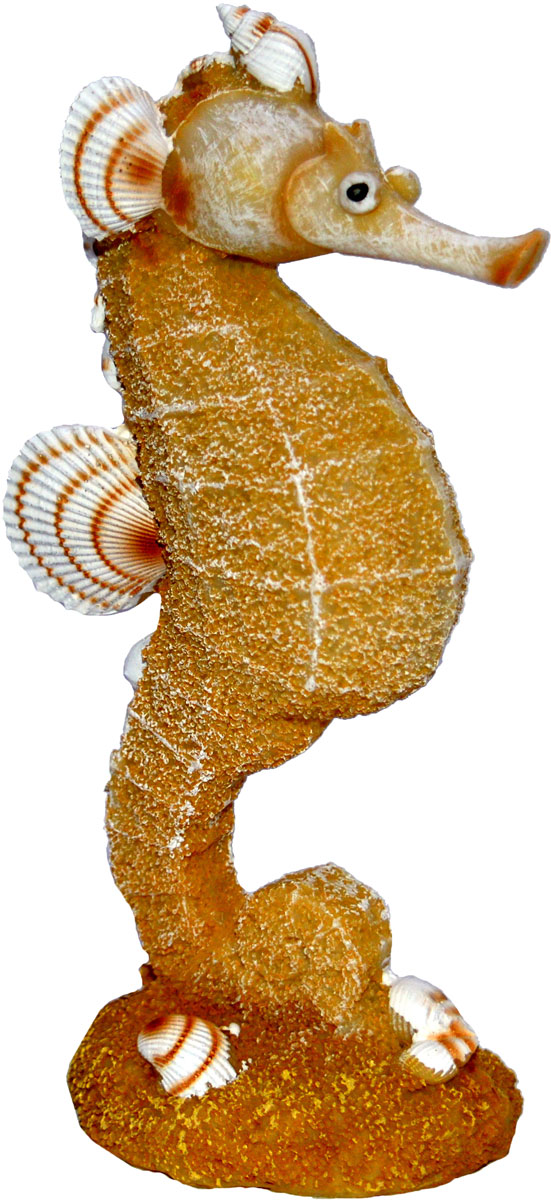 Декорация для аквариума Penn-Plax Морской конёк из песка и ракушек, 18 см декорация для аквариума penn plax домик губки боба 14 см