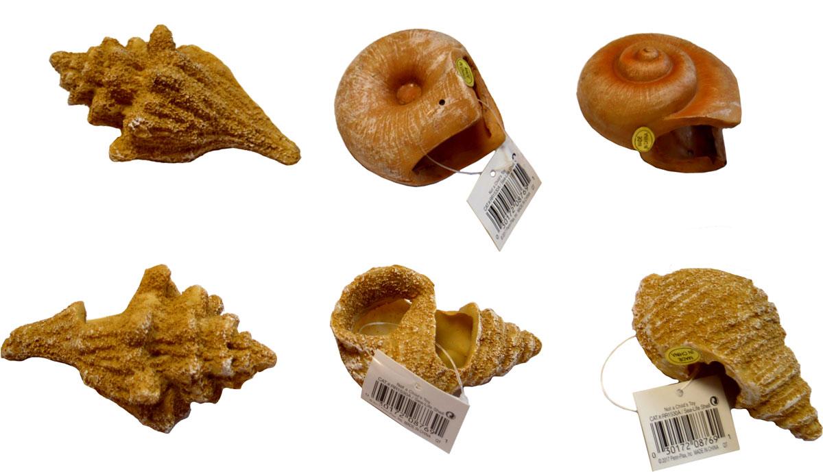 Набор декораций для аквариума Penn-Plax Песчаные ракушки, 6 предметов грот для аквариума penn plax мистер крабс 6 х 6 х 6 см