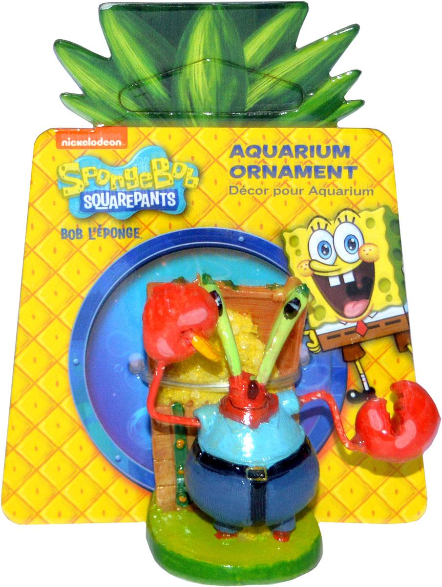 Грот для аквариума Penn-Plax Мистер Крабс, 6 х 6 х 6 см грот для аквариума penn plax губка боб