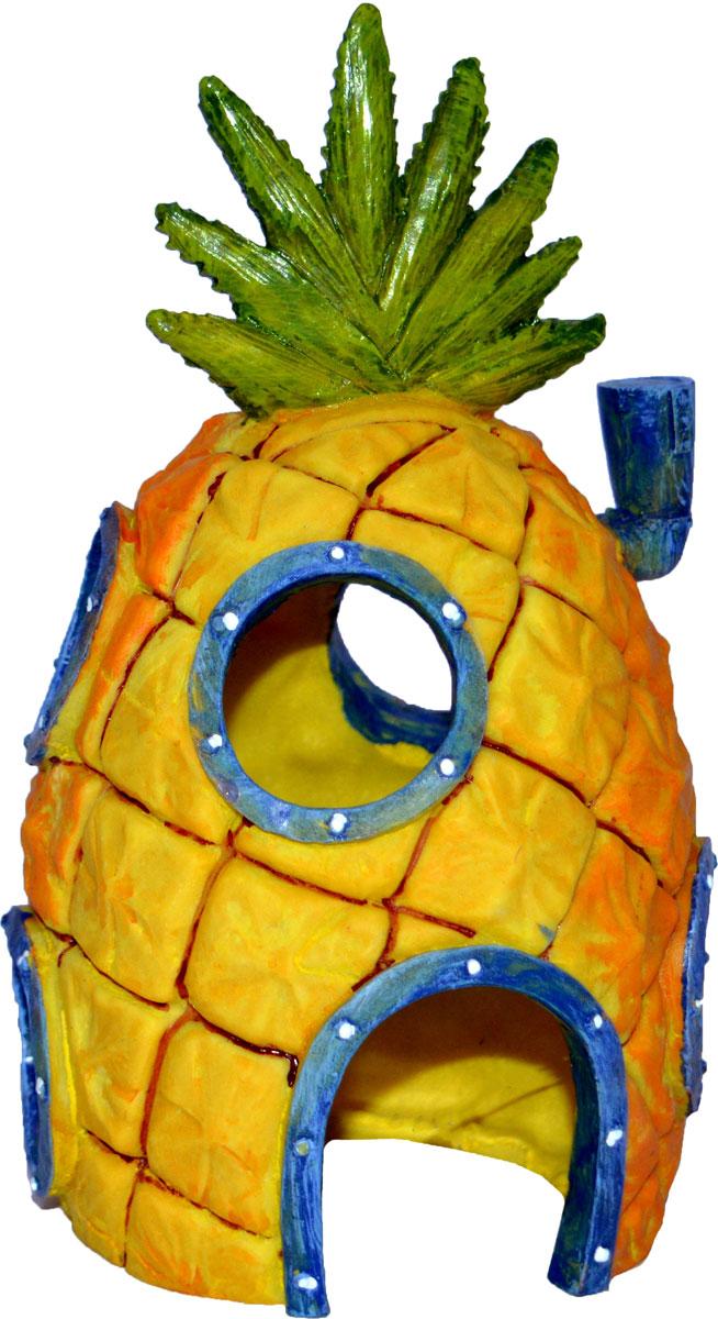 Грот для аквариума Penn-Plax Домик Губки Боба. SBR41 декорация для аквариума penn plax домик губки боба 14 см