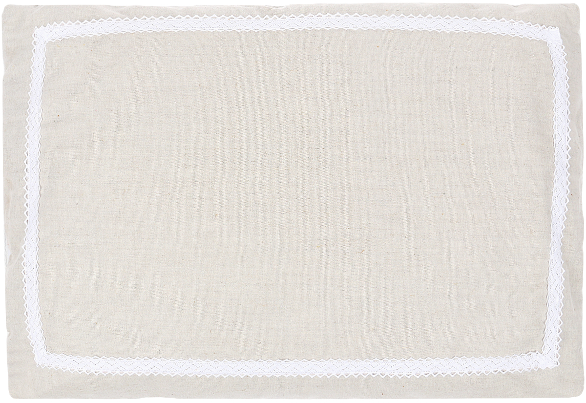 Подушка Bio-Textiles Кедровое очарование Naturel, наполнитель: кедр, цвет: бежевый, 50 х 70 см. KON172
