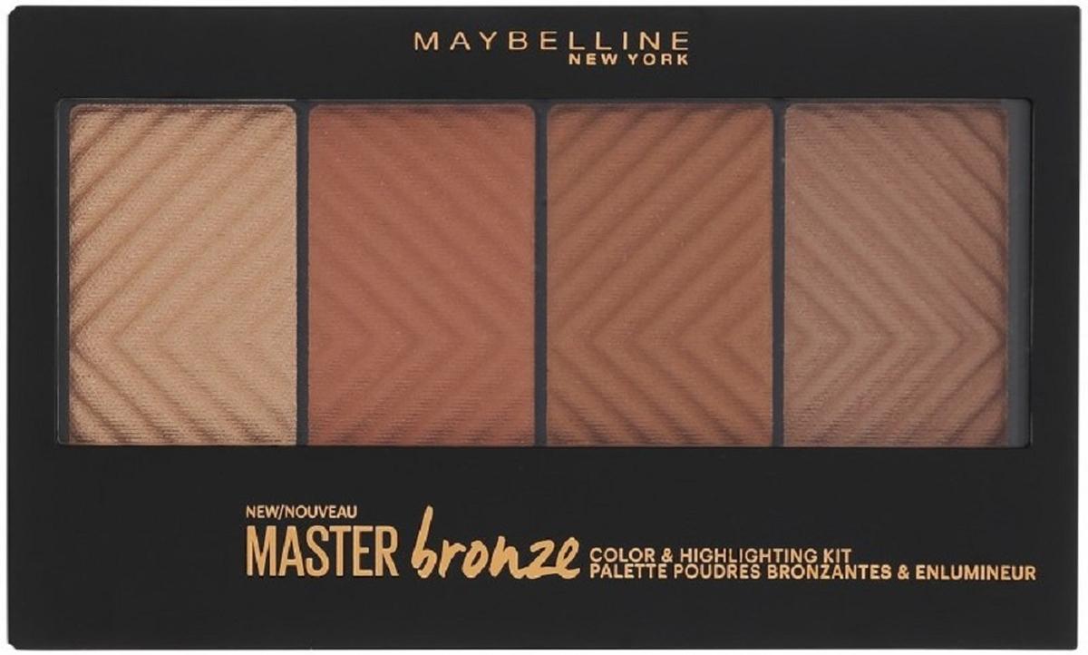 Бронзовая палетка для контурирования лица Maybelline New York Master Bronze, оттенок 30, 13,5 г