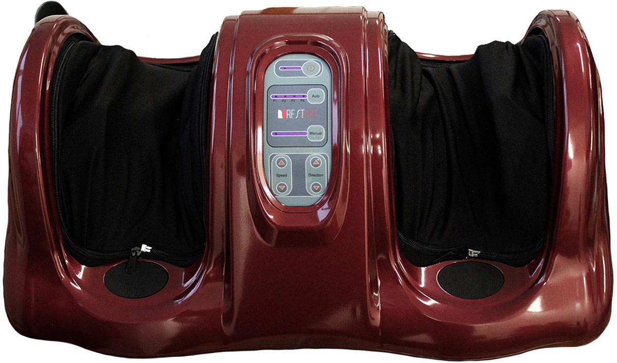 RestArt Массажер для ног (стоп и лодыжек) роликовый Bliss с пультом ДУ, тонизирующий массаж, цвет: красный очиститель массажер языка дельтатерм лингва classic цвет фиолетовый
