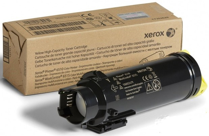 Картридж Xerox 106R03483, желтый, для лазерного принтера