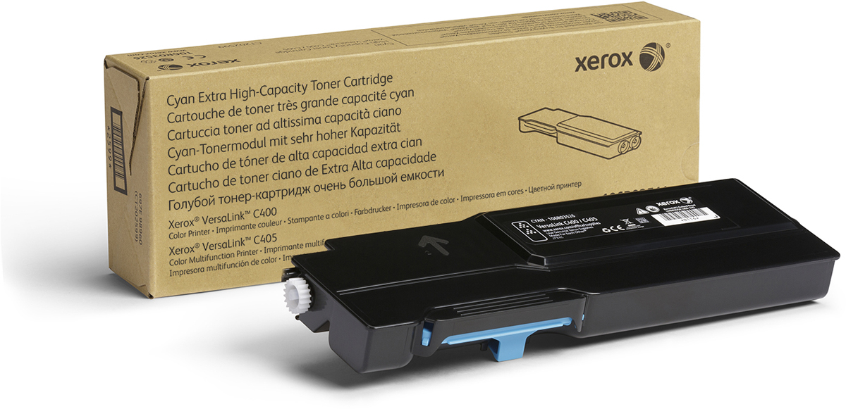 Картридж Xerox 106R03534, голубой, для лазерного принтера, оригинал