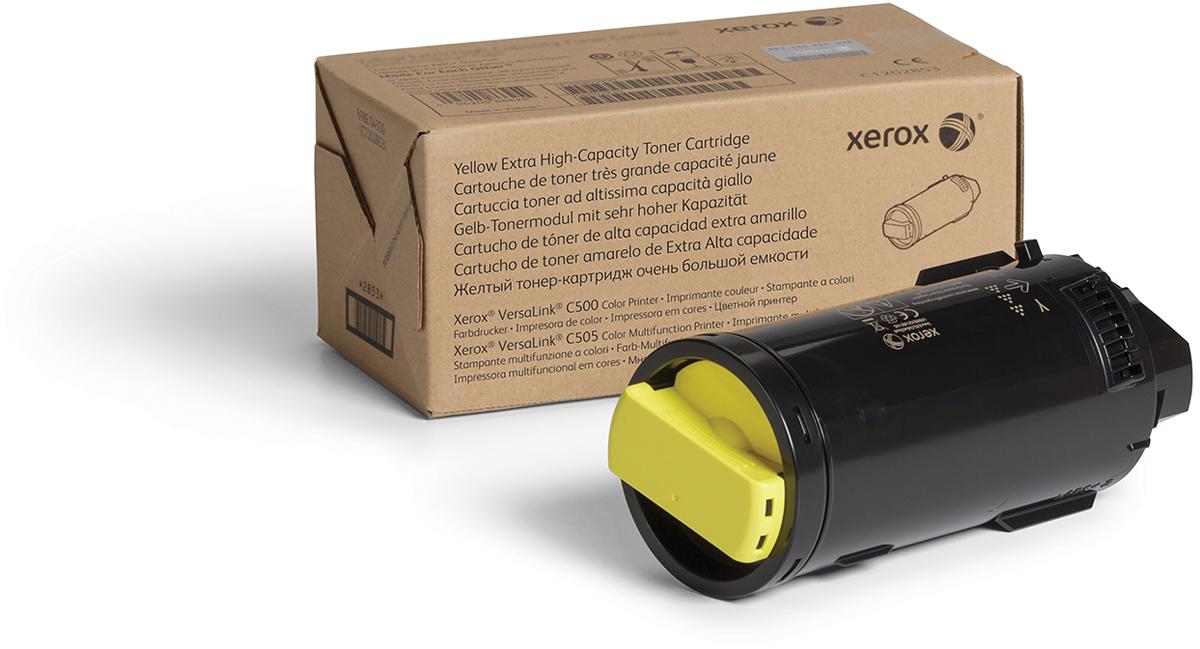 Картридж Xerox 106R03886, желтый, для лазерного принтера, оригинал