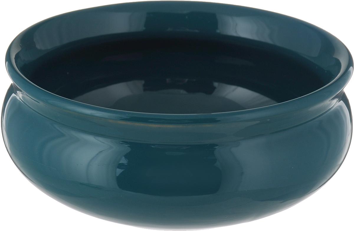 Тарелка глубокая Борисовская керамика Скифская, цвет: изумрудный, 500 мл тарелка глубокая борисовская керамика скифская цвет салатовый желтый 500 мл