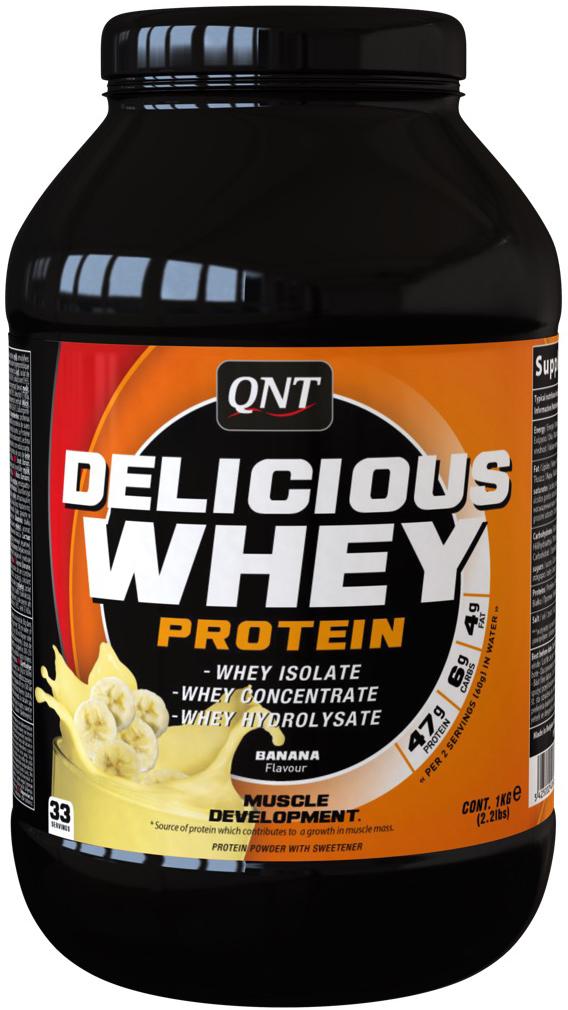 Сывороточный протеин QNT DELICIOUS WHEY PROTEIN, вкус: Банан, 2,2 кг протеин olimp 100% whey protein complex шоколад 700г