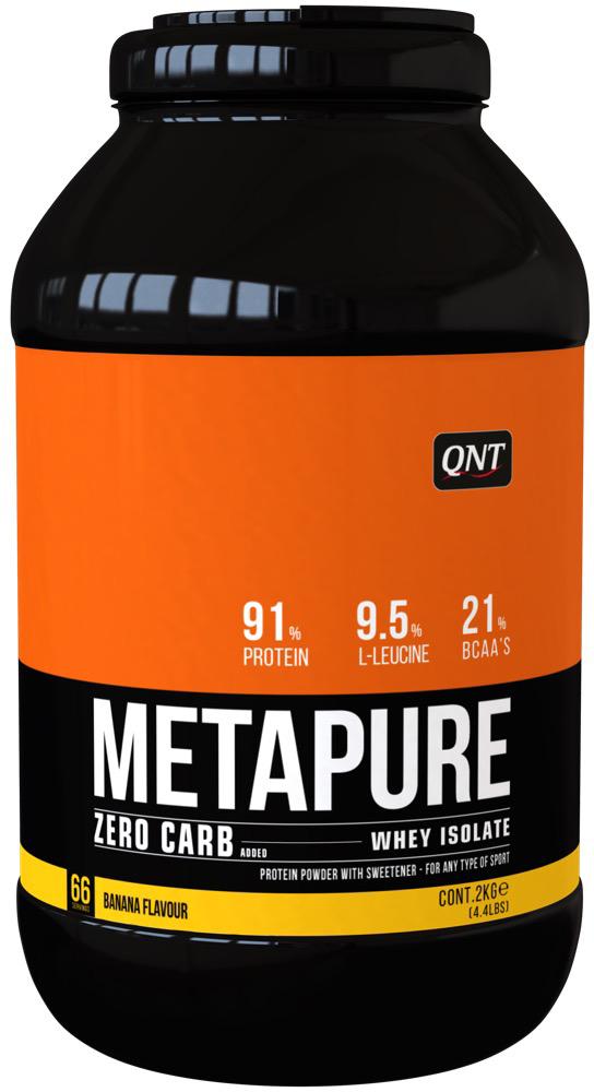 QNT Изолят Metapure, банан, 2 кг добавки для роста мышц