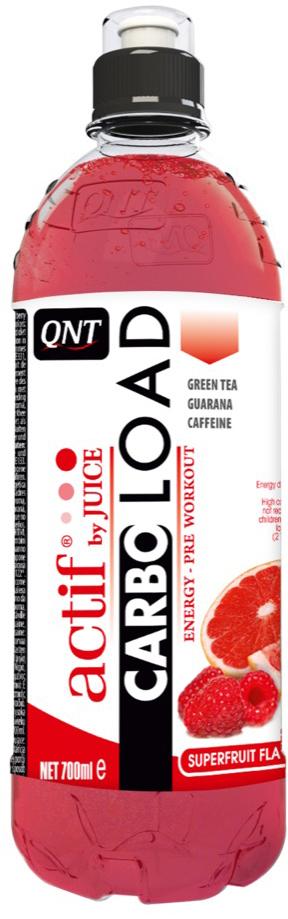 Энергетический напиток QNT Carbo Load, вкус: Суперфрукты, 700 мл энергетический напиток bbb guarana shots вишня 20 ампул 1500 мг в ампуле