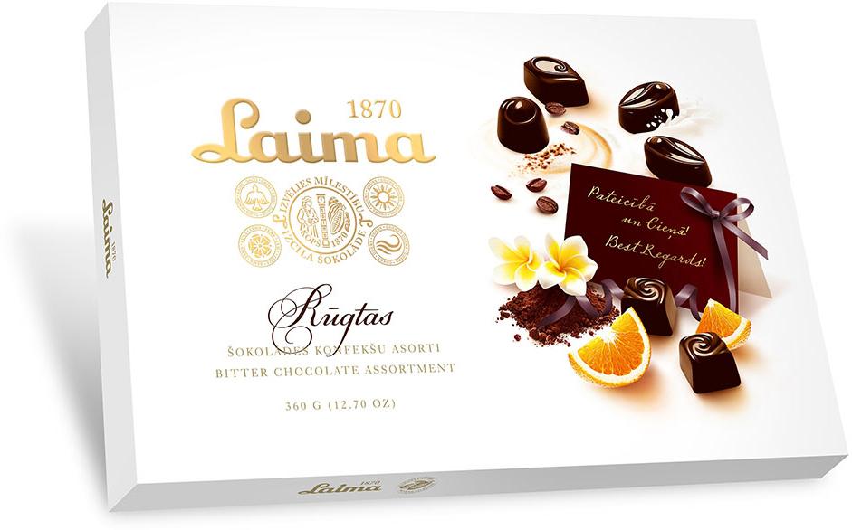 Laima Ассорти конфет в горьком шоколаде, 360 г