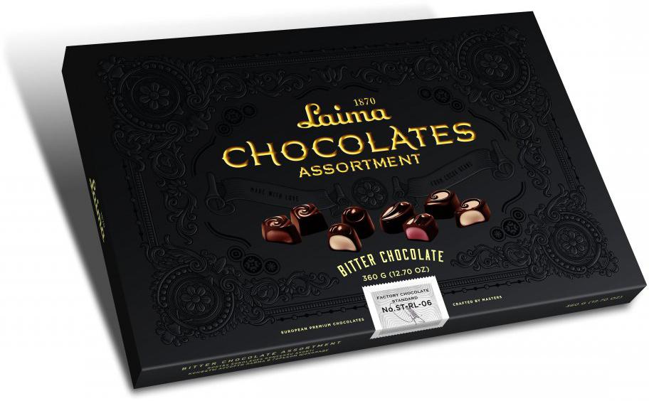 Laima Книги Ассорти конфет в горьком шоколаде, 215 г bodybar батончик протеиновый 22% со вкусом крем брюле в горьком шоколаде 50 г