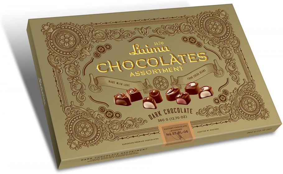 Laima Книги Ассорти конфет в темном шоколаде, 215 г кремлина московские тайны ассорти из фруктов в шоколаде 240 г