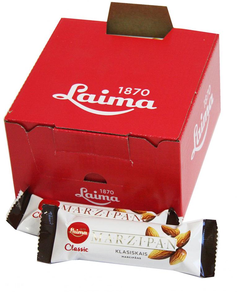 Laima Конфета марципановая шоколадный батончик, 40 г housekeeper kl 5 txf black
