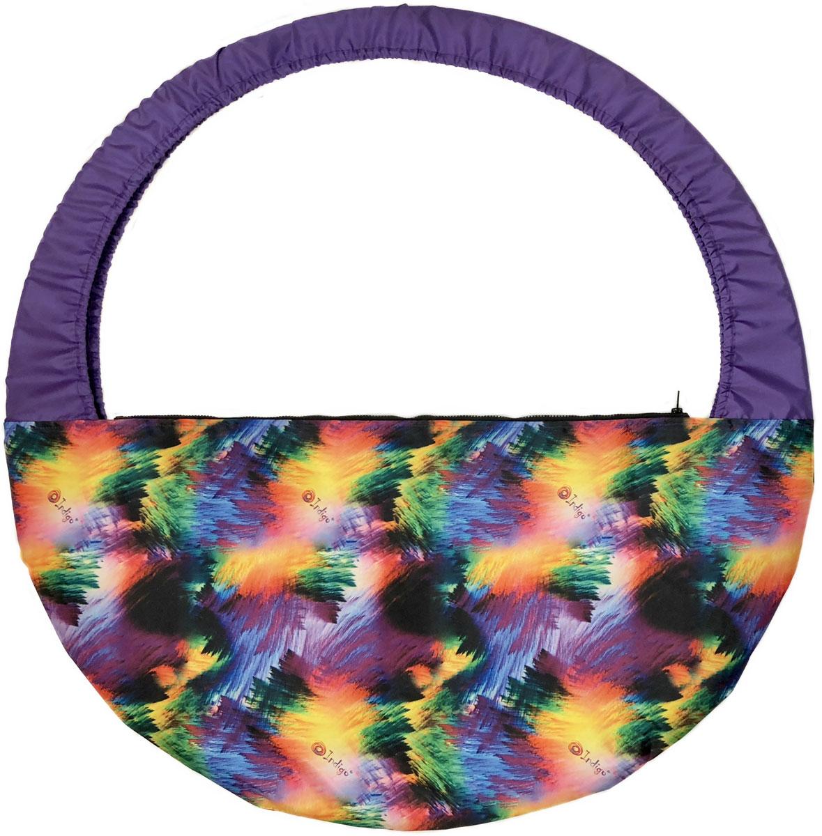 Сумка-чехол для обруча Indigo Гламур, цвет: разноцветный, диаметр 60 х 90 см мяч для художественной гимнастики indigo силиконовый цвет разноцветный диаметр 15 см