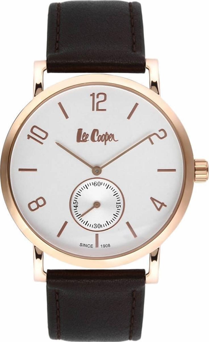 Часы наручные мужские Lee Cooper, цвет: черный. LC-38G-E джемпер женский lee cooper цвет черный dido 5513 размер l 46