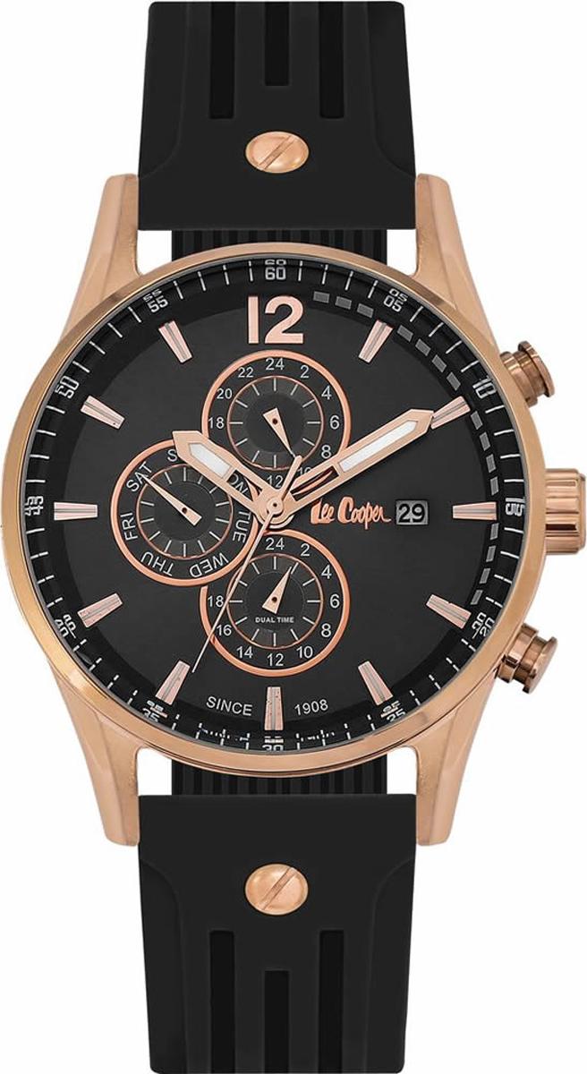 Часы наручные мужские Lee Cooper, цвет: черный. LC06419.451 джемпер женский lee cooper цвет черный dido 5513 размер l 46