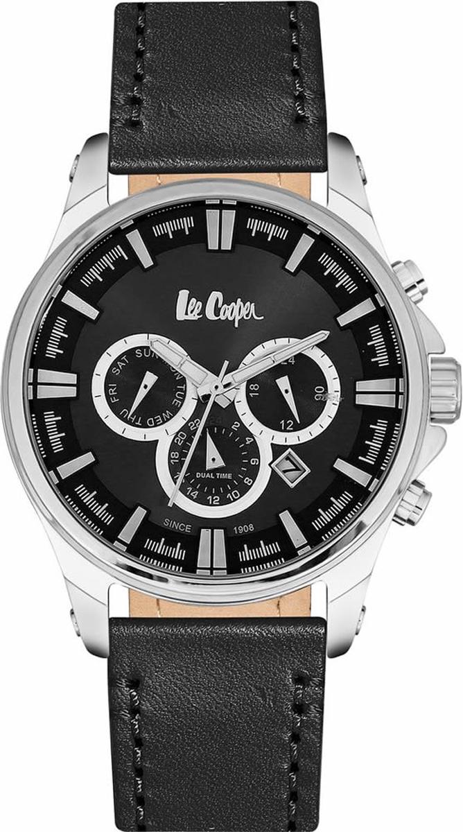 Часы наручные мужские Lee Cooper, цвет: черный. LC06444.351 джемпер женский lee cooper цвет черный dido 5513 размер l 46