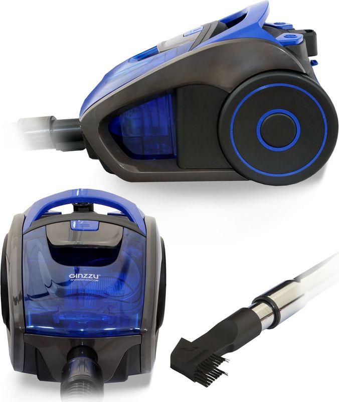 Пылесос Ginzzu VS429, Gray Blue Ginzzu